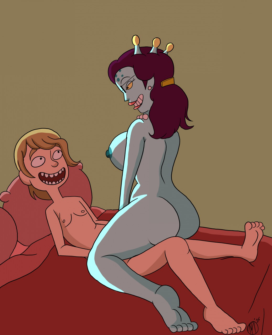 porn rick morty and morticia Overly sarcastic productions red and blue